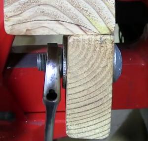 screw on the nut