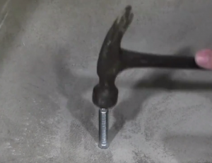 hammering in wedge anchors